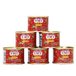 28-30% Brix 70g tomato paste tin packing