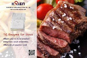 Transglutaminase for Restructuring Meat