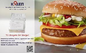 Transglutaminase for Burger Patties