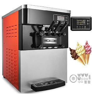 Three flavor soft ice cream machine soft serve ice cream making machine