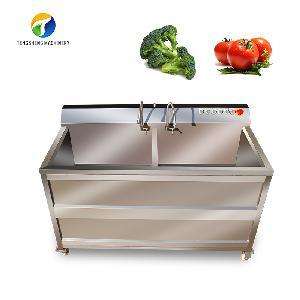 Double cylinder ozone bubble vegetable washing machine (TS-B)