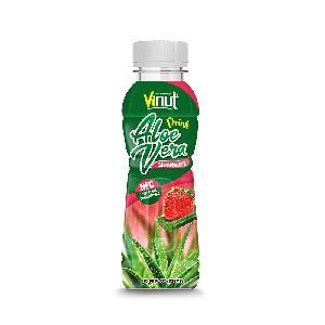 10.98 fl oz VINUT NFC Premium Aloe Vera Drink with Strawberry