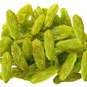 Super large grain green raisin snacks