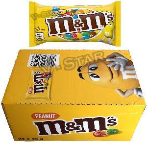 M&M'S Peanut Chocolate Bags 24 x 45g Original