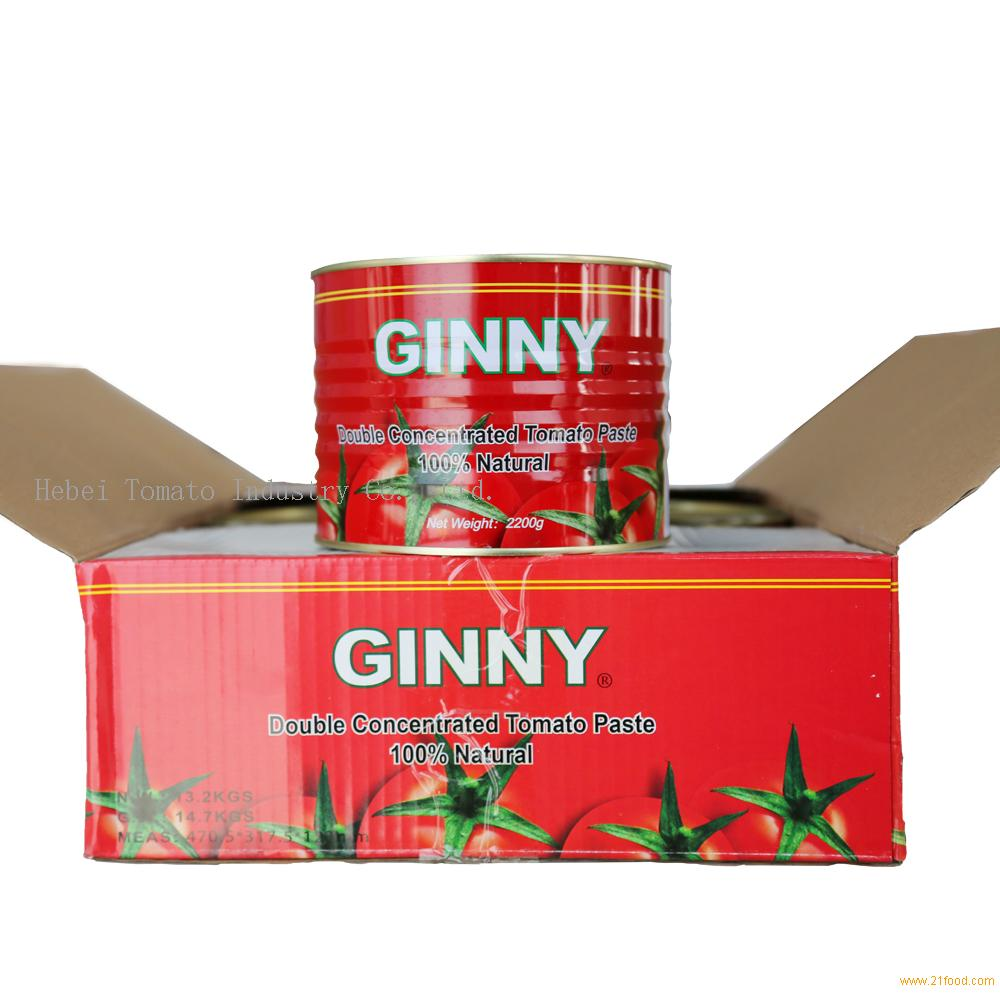 Manufactor 2.2kg Canned Tomato Paste Brix: 28-30%