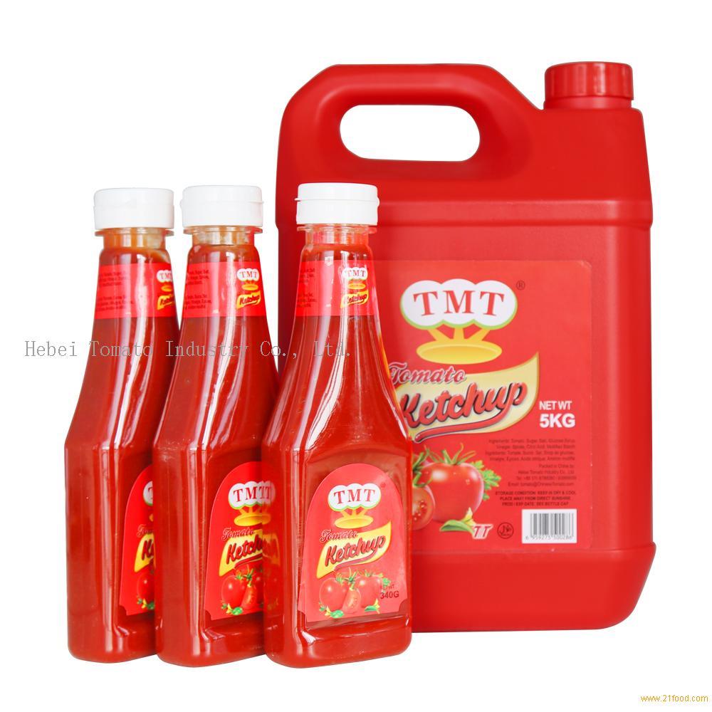 340g tomato ketchup in plastic bottle for guinea market