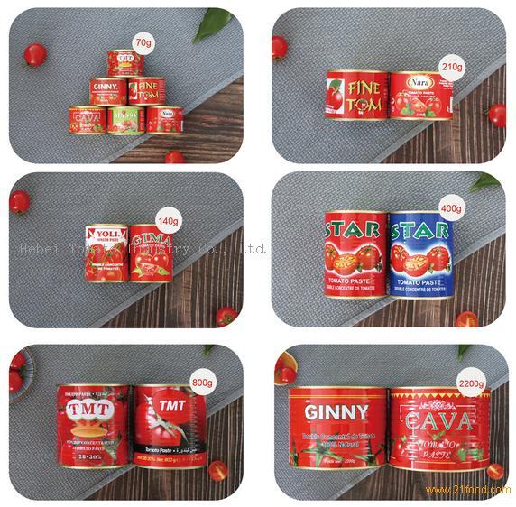 big size canned tomato paste hard open