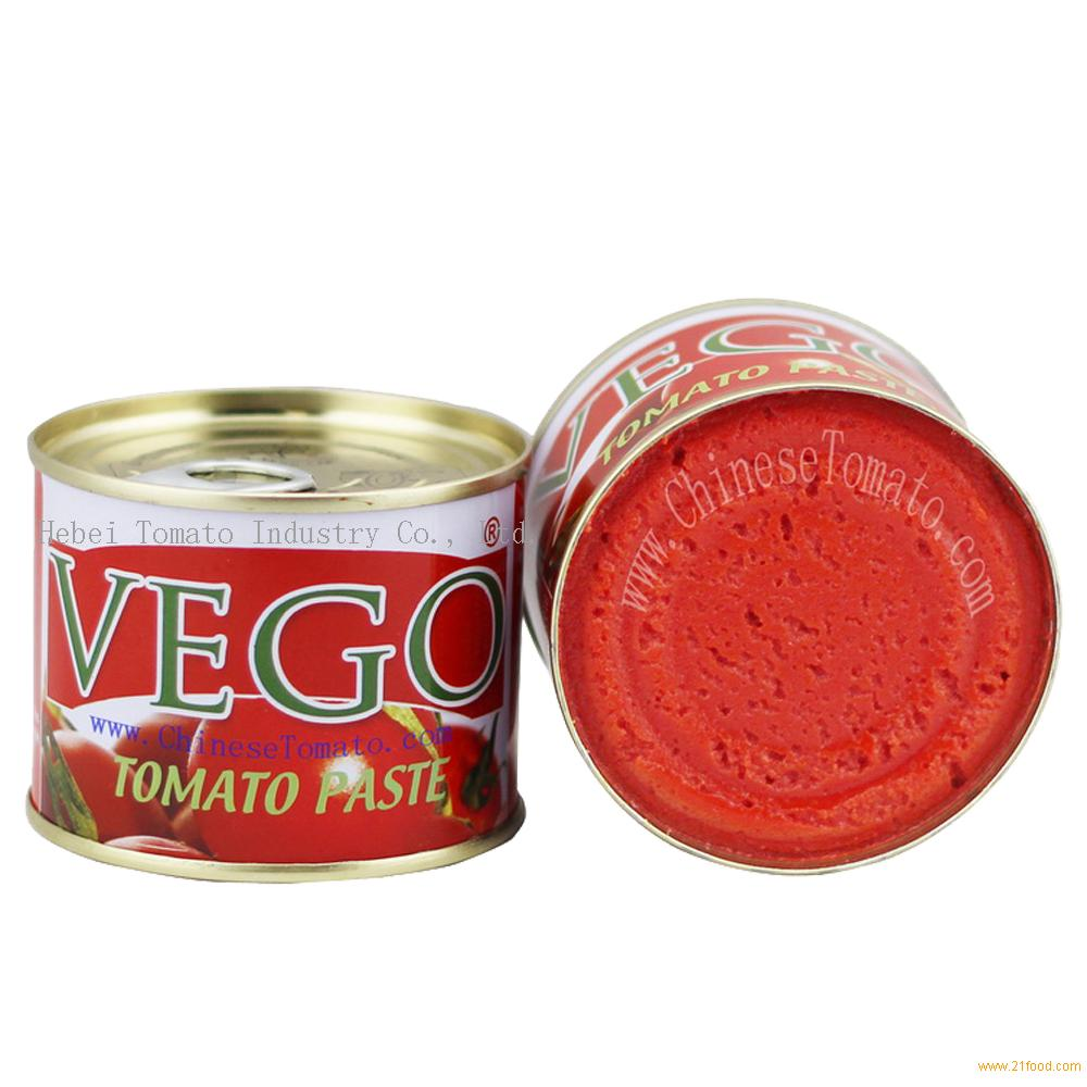 70g mini size canned tomato paste with yellow ceramic coating inside