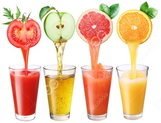 different juice show