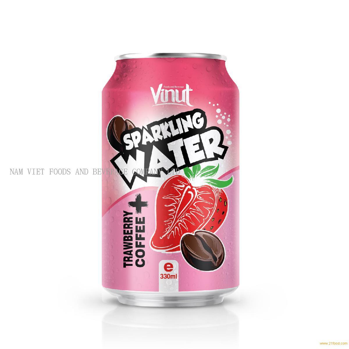 330ml VINUT Strawberry Coffee Sparkling water