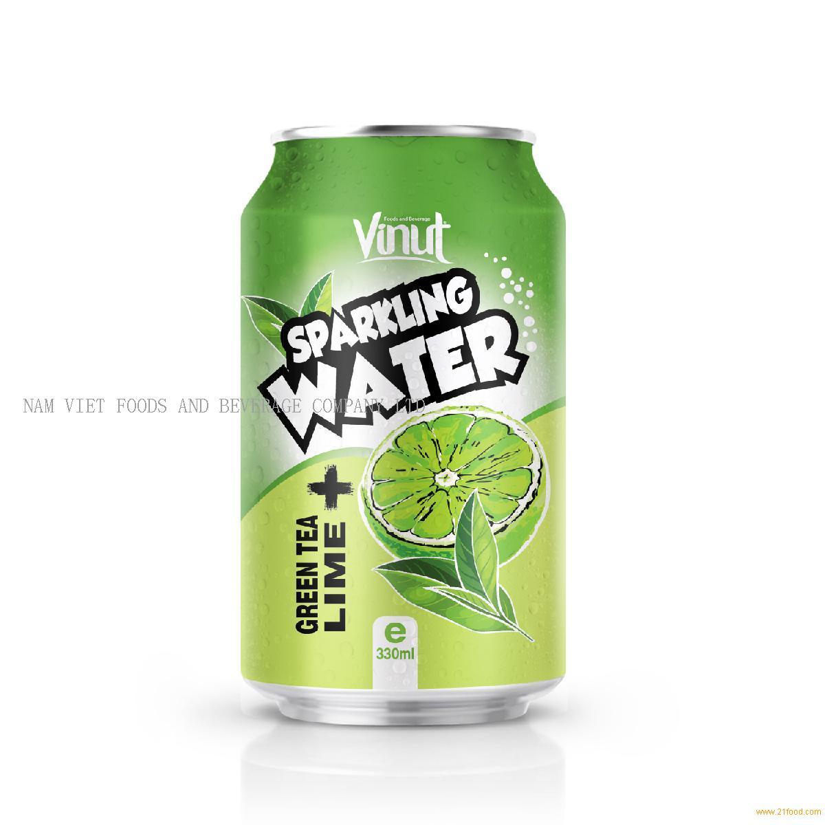 330ml VINUT Green tea Lime Sparkling water