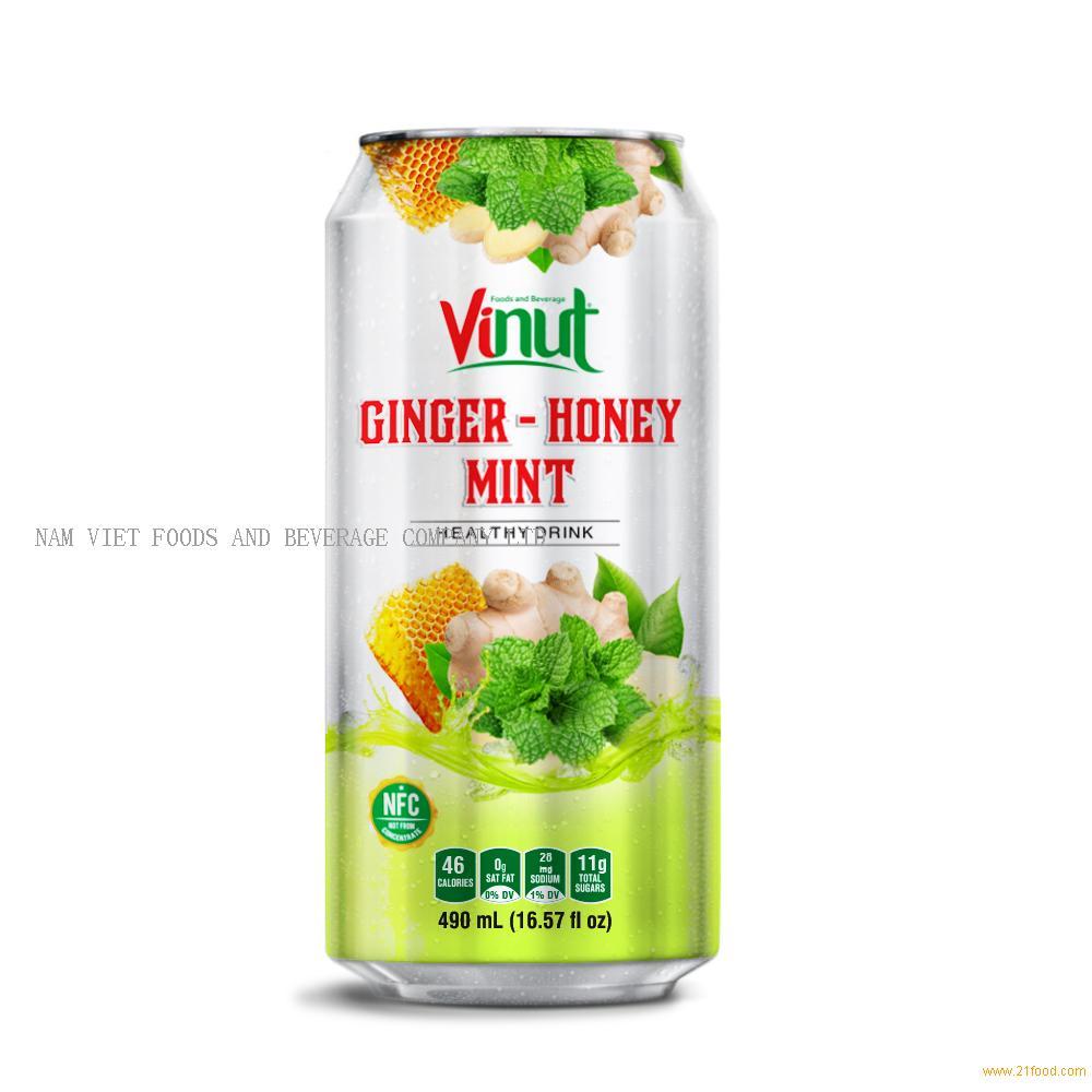 16.57 fl oz VINUT Ginger juice with Honey Mint