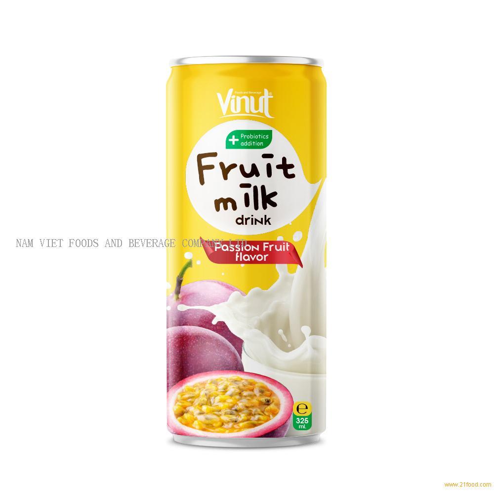 325ml Probiotics Additon Fruit Juice Milk Drink Passion Flavor