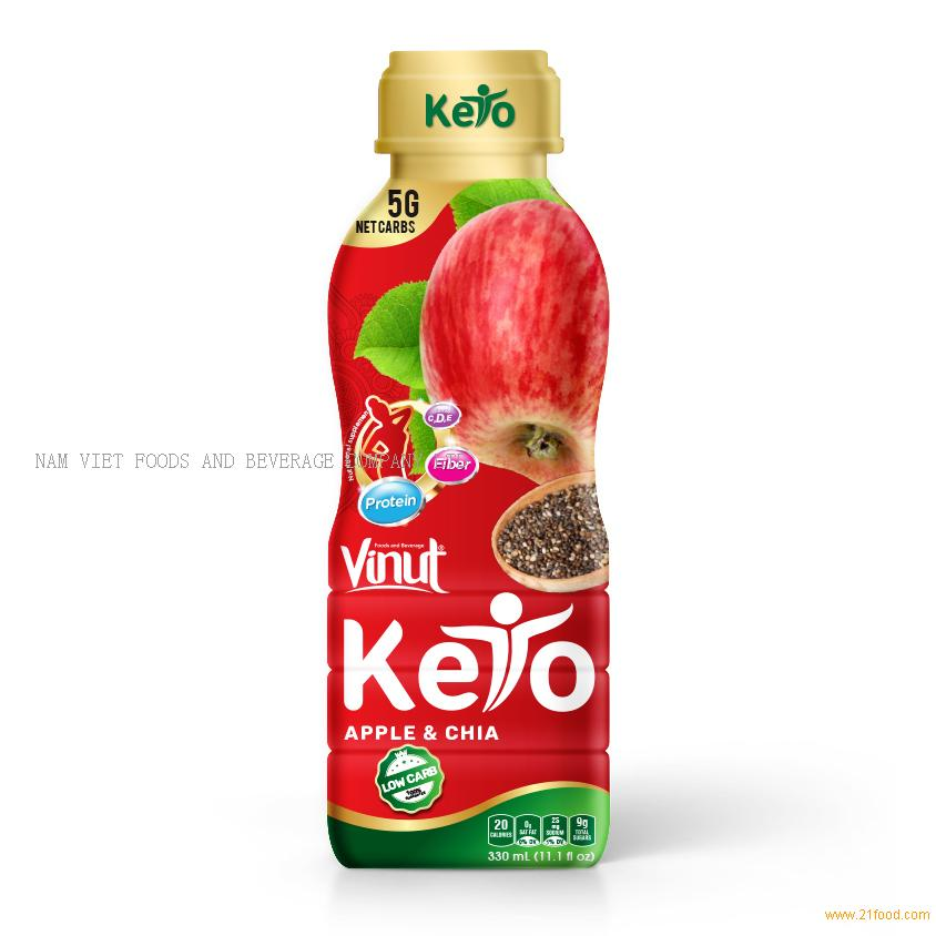 Fresh Apple juice anh chia seed 330ml bottle drinks