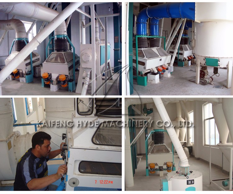 150 T per day  wheat flour milling line maize flour making machine