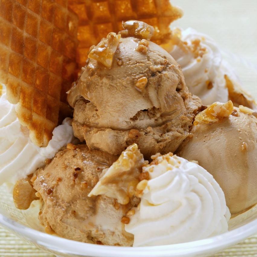 Caramel Soft Serve Ice Cream Powder Halal Mix Ready