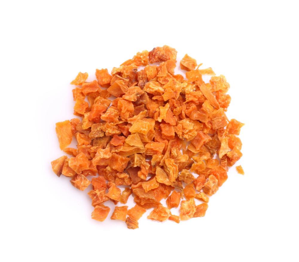 Dried sweet potatoes cubes - Ipomoea batatas