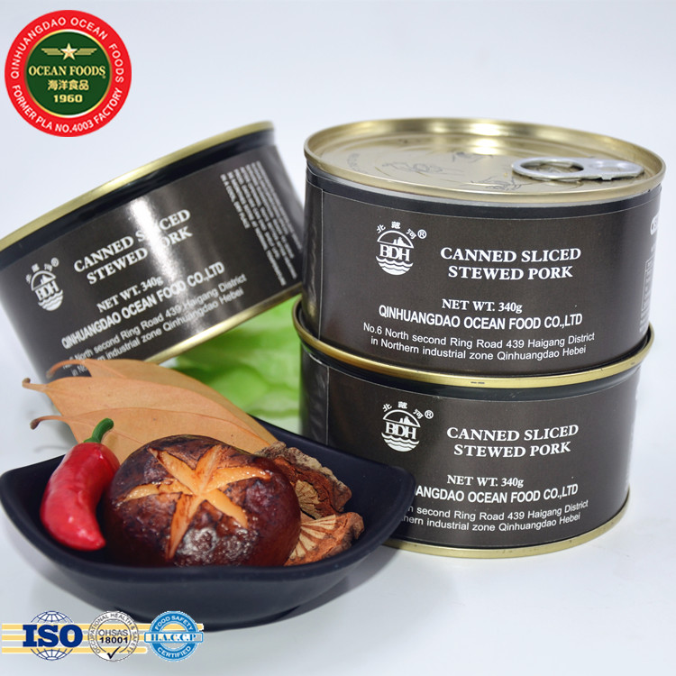 340g Military Canned Food Stewed Sliced Pork