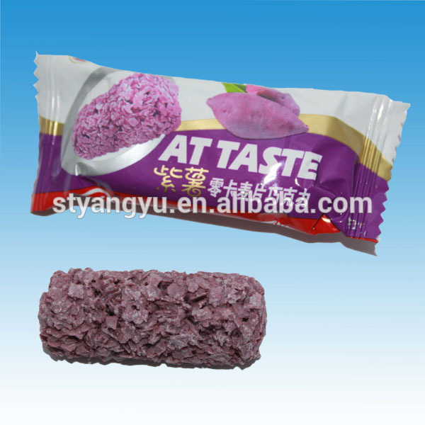 Purple Sweet Potato Oatmeal Chocolate Crisp Candy