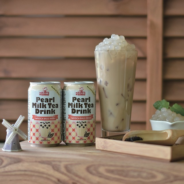 Taiwan non alcoholic instant canned bubble milk tea drink