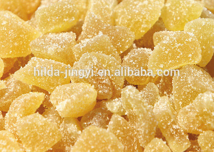 Sweet Dried Ginger Food With Granulated Sugar