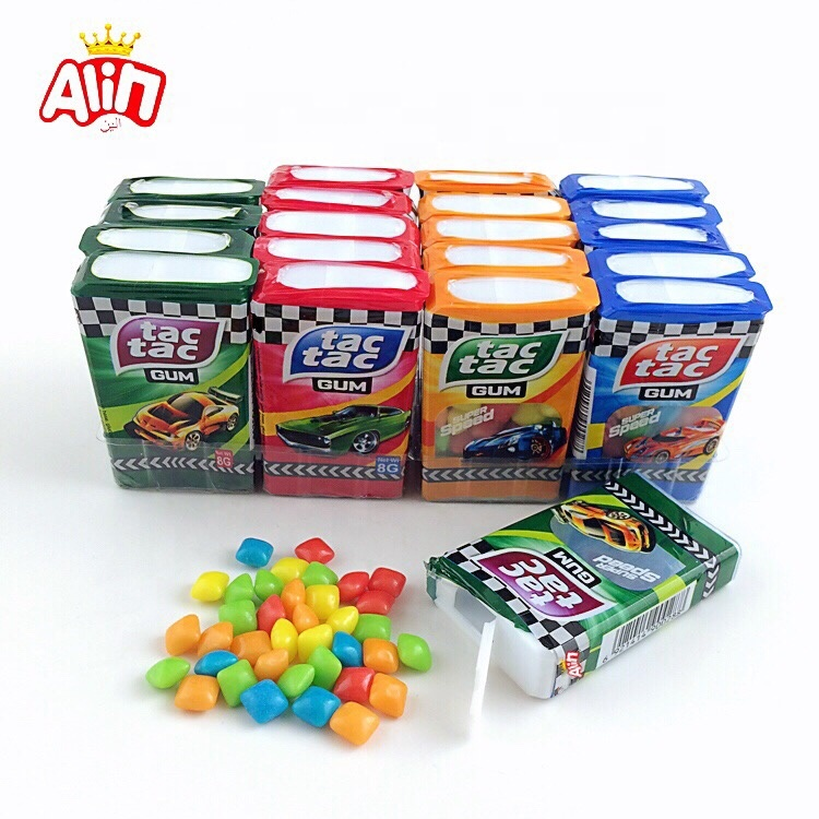 Colorful pillow shaped 8g  in small box chewing gum