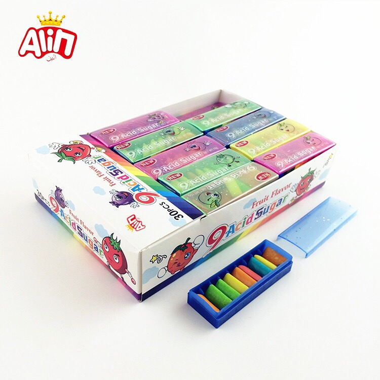 9 piece in a small bento box icing bubble chewing gum