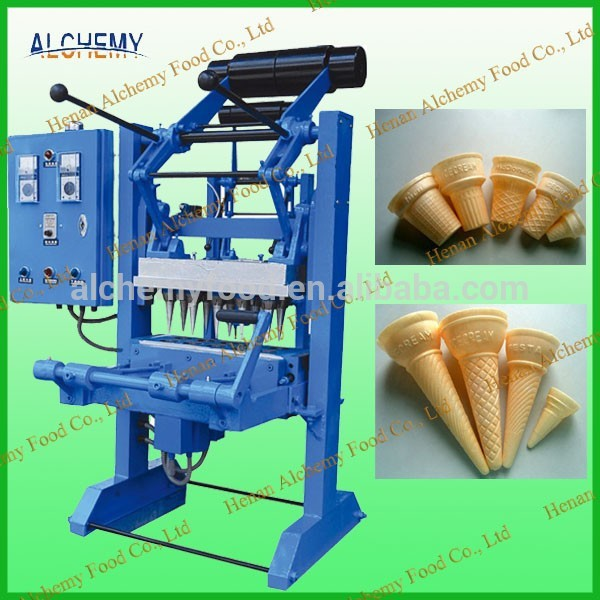 manual 10 molds ice cream cone baking machine for commercial