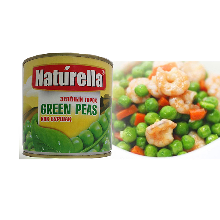 Canned vegetables canned green peas
