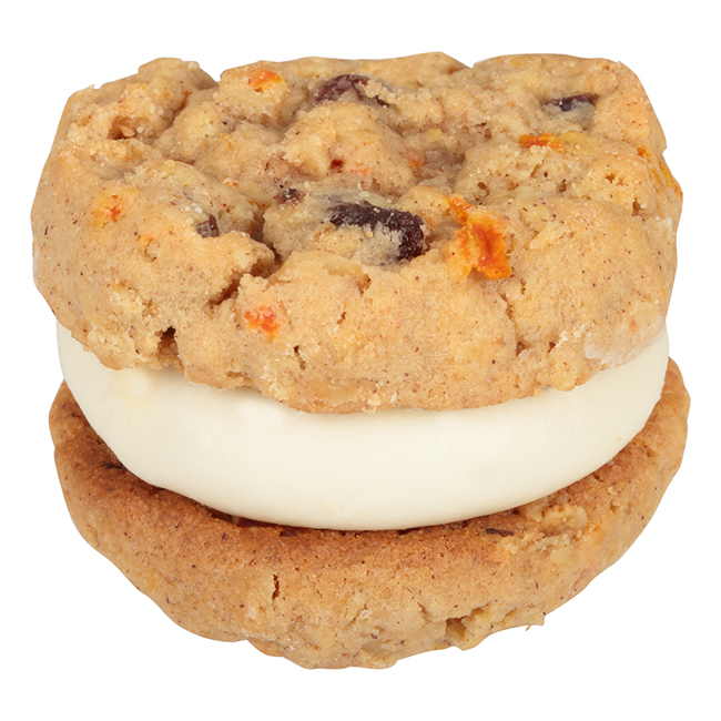 Our Specialty Sweet Middles, Peanut and Tree Nut Free, Mini Cream Filled Sandwich Cookies, Carrot Cake