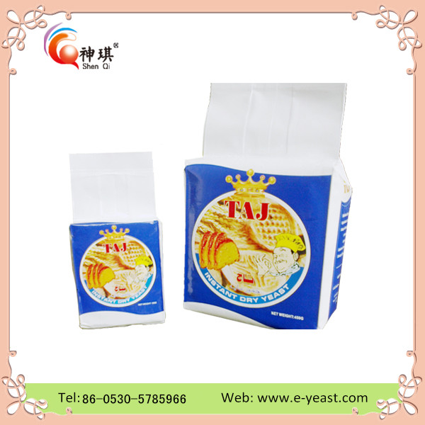 Halal approved China factory high active 450g instant dry yeast with low sugar/yeast for cheese