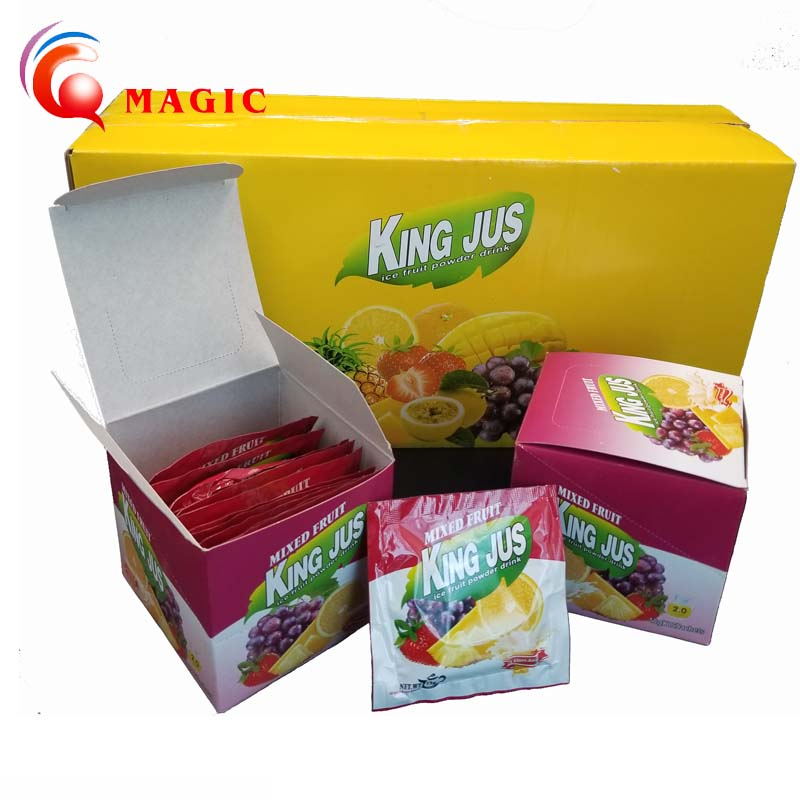 Instant fruit flavored juice drink powder factory