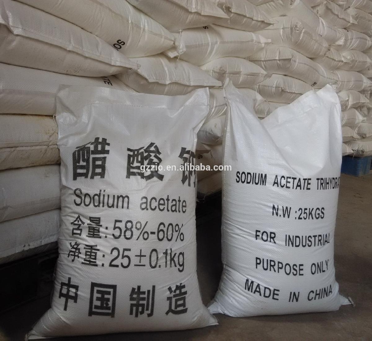 High purity CAS 6131-90-4 hot pack sodium acetate trihydrate price
