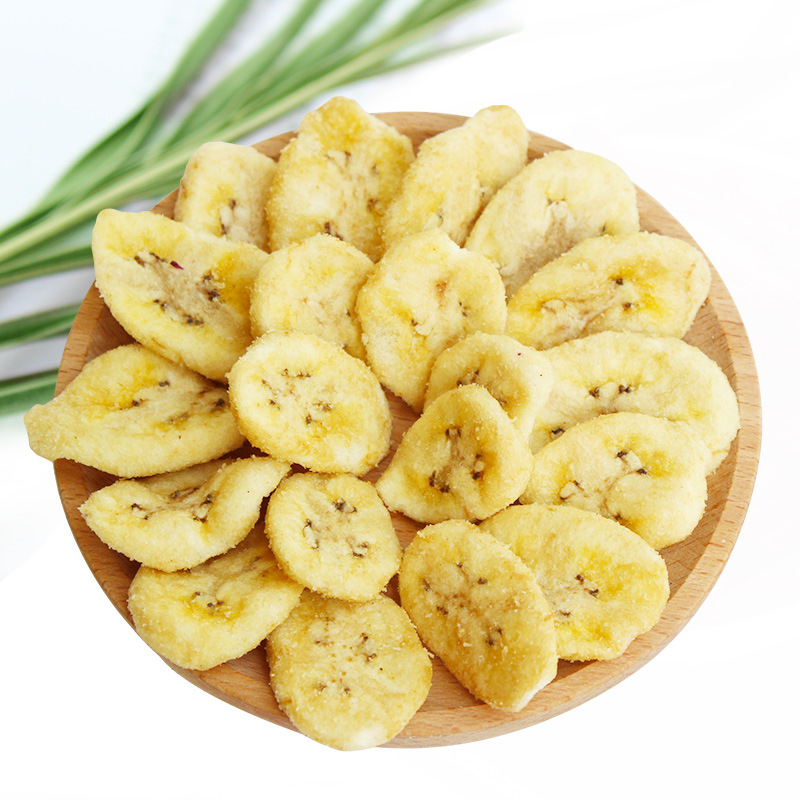 Bulk healthy high quality low temperature vacuum fried banana chips