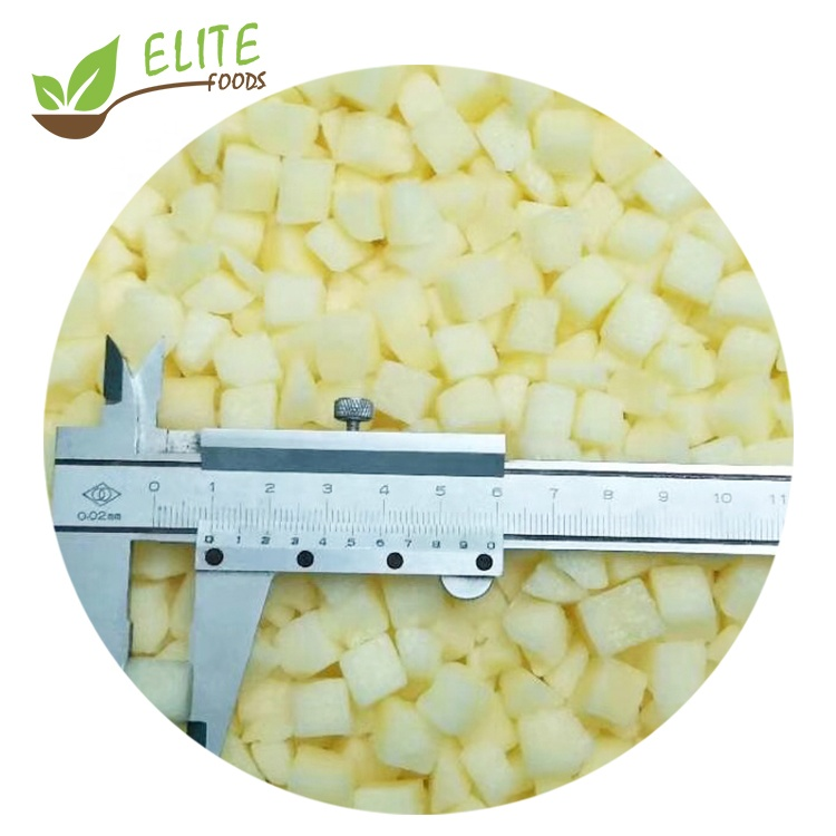 2020 New Crop Top Grade Peeled Iqf Frozen Apple Diced