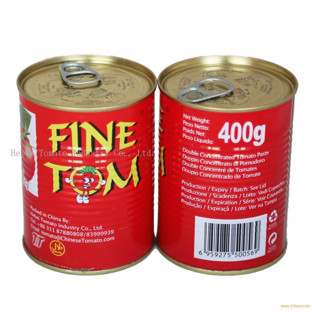 400g Tomato Paste Tin Packing with Yellow Ceramic Coating inside
