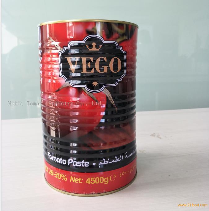 Bigger Size 4500g Tomato Paste Tin Packing with Yellow Ceramic Coating inside
