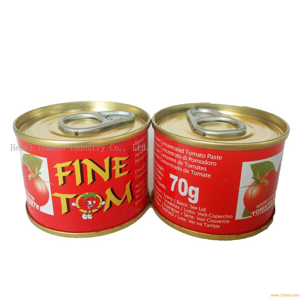 Double Concentrate 28-30% Brix 70g canned tomato paste