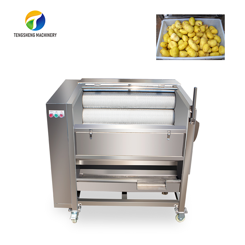 Large commercial potato taro brush cleaning and peeling machine food processor(TS-M300)