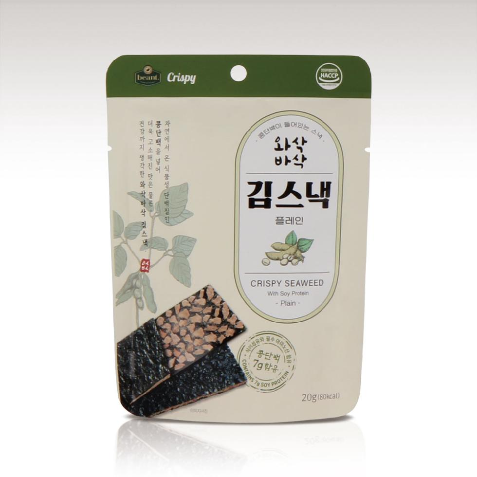 Beant Crispy Seaweed Snack with Soy Protein Plain