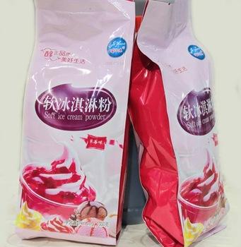 strawberry flavor and ice cream product type soft ice cream powder