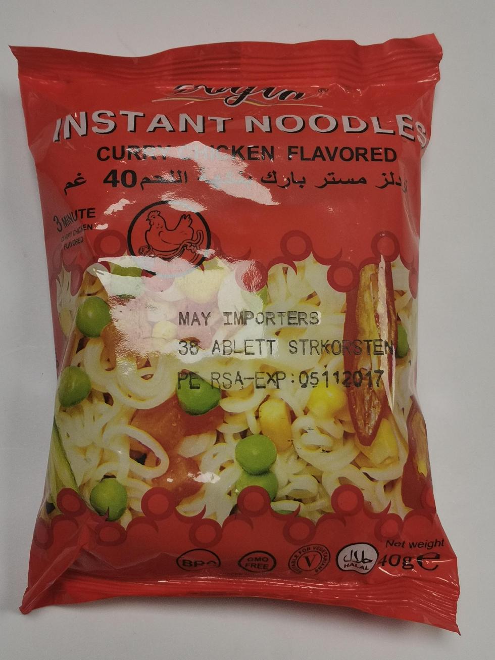 40g bag curry flavour instant noodle