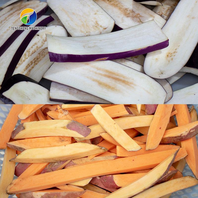 Automatic French Fries Cutter Sweet Potato Chips Cutting Machine (TS-Q128)