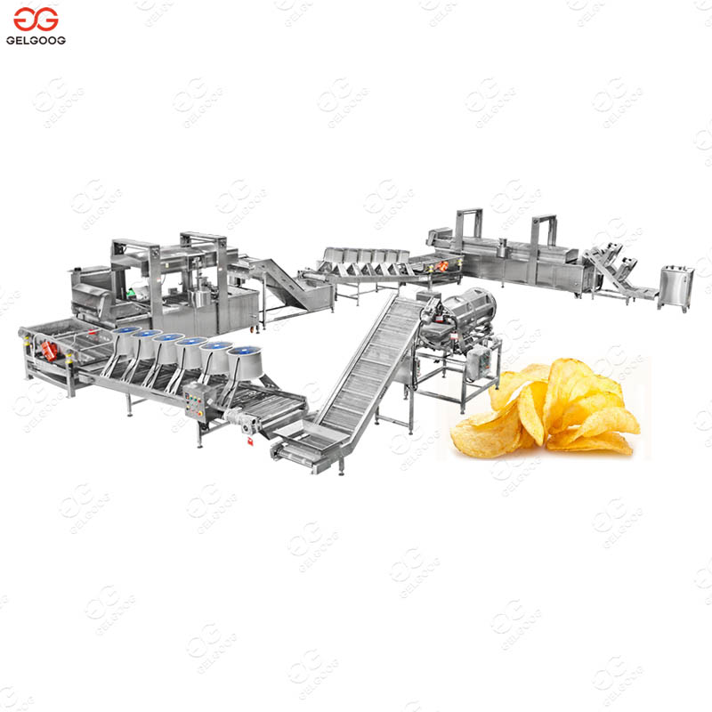 Fully Automatic Industrial Potato Chips Making Machine