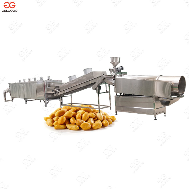 Automatic Cashew Nuts Peanut Almond Roasting and Flavoring Machine