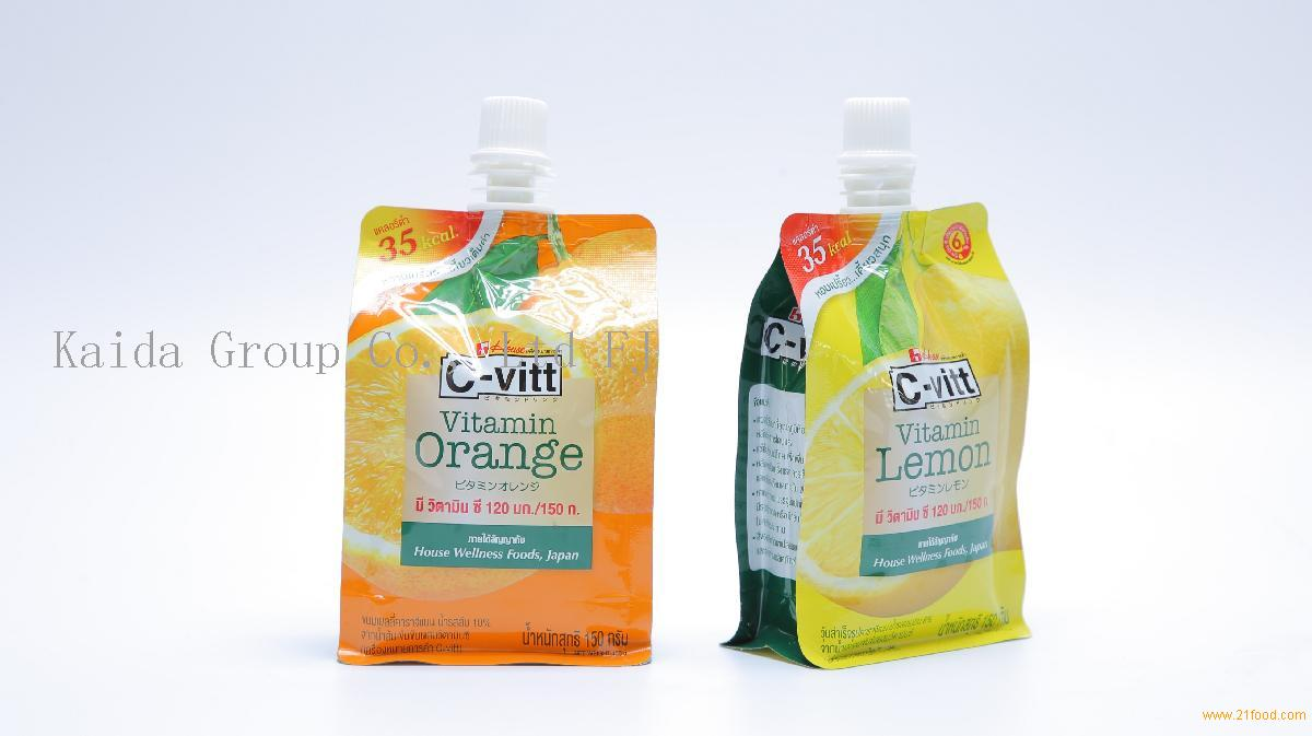 new product flat bottom pouch with spout for beverage