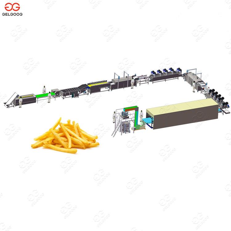 300 kg/h Automatic Frozen French Fries Production Line