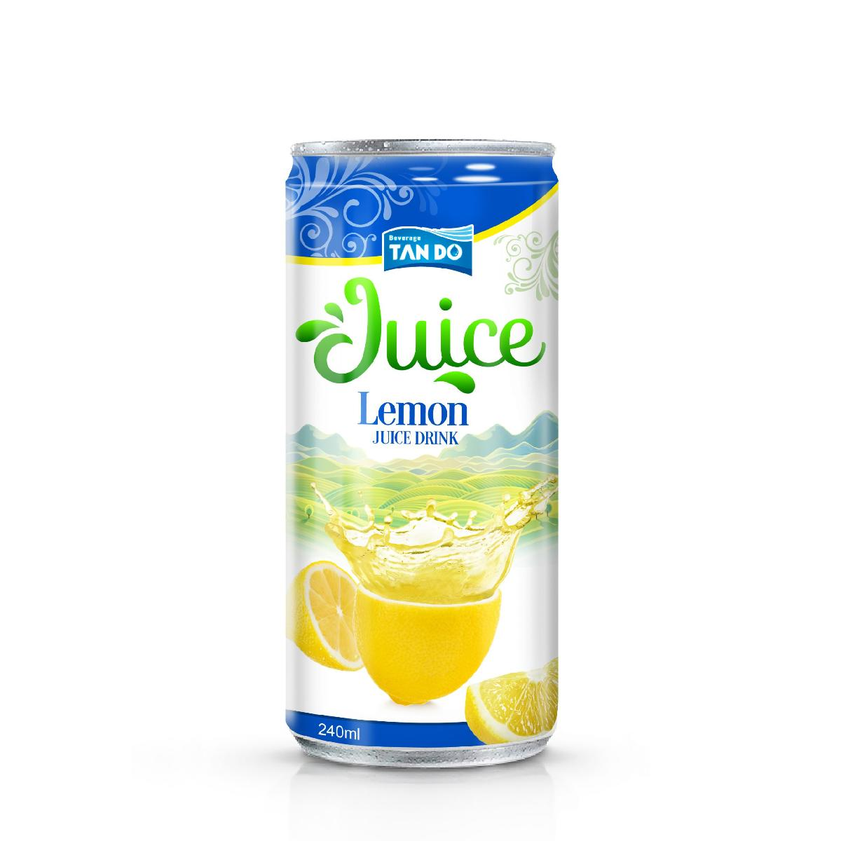 250ml Canned Lemon Juice Drink Available