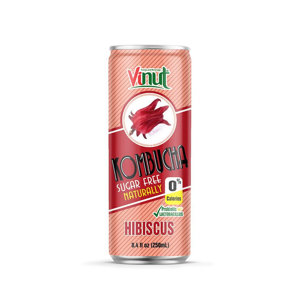 8.4 fl oz VINUT Kombucha natural Hibiscus juice free sugar
