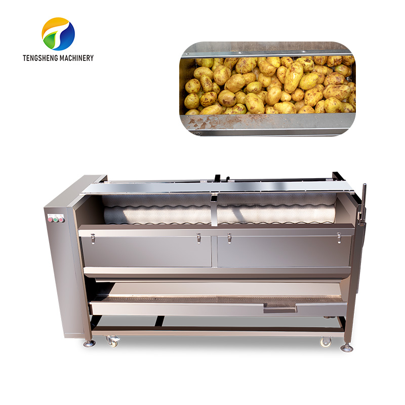 Industrial stainless steel potato brush cleaning and peeling machine TS-M800
